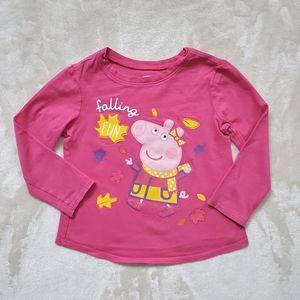 Old Navy Pink Peppa Pig Long Sleeve Tee Sz 2T